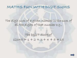 Maths Fun with Digit Sums