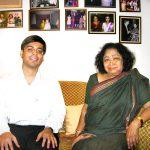 Gaurav Tekriwal with Shankuntala Devi