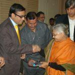 Gaurav Tekriwal with Sheila Dixit