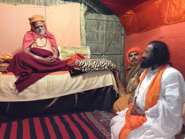 Shankaracharaya with Shri Shri Ravi Shankar